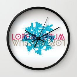 Abstract shape with lorem ipsum Wall Clock