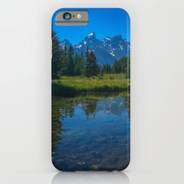 Grand Teton Mountains Creekside View iPhone Case