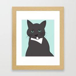 Meow, meow. Framed Art Print