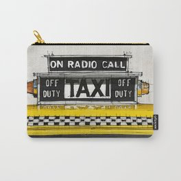 Yellow cab of New York sketch, on radio call, off duty Carry-All Pouch