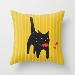 Zombie Cat Hank Throw Pillow
