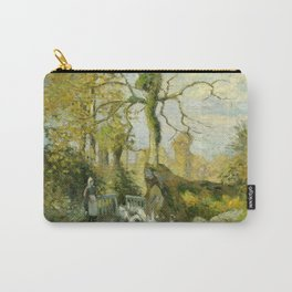 """Camille Pissarro """"The Goose Girl at Montfoucault (White Frost)"""" Carry-All Pouch"""