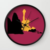 planet of the apes Wall Clocks featuring Planet of the Apes by FilmsQuiz