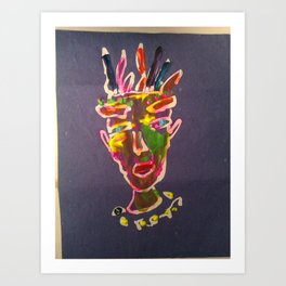 ritratto di re Art Print