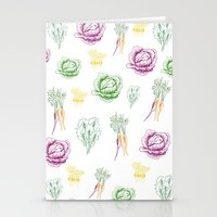 vegetable Stationery Cards featuring vegetable love by gingerjillian