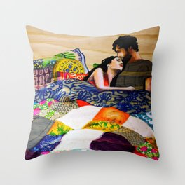 Vibrant love  Throw Pillow