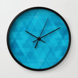 Gentle light blue triangles in the intersection and overlay. Wall Clock