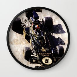 Emerson Fittipaldi on Lotus Wall Clock