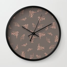 Imperfection Branches - Strong Brown Wall Clock