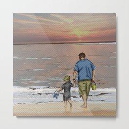 Father and Son - Seasonal Skies Metal Print