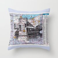 ohio state Throw Pillows featuring Ohio by Ursula Rodgers