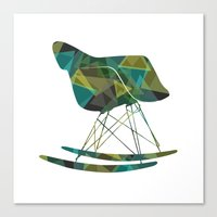 eames Canvas Prints featuring Eames Rocker by Melissa Nocero