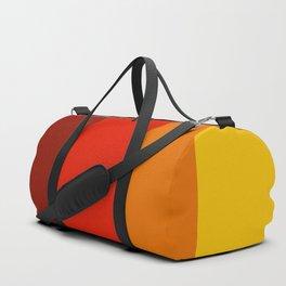Multicolor Retro Strips Duffle Bag