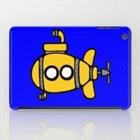 yellow submarine iPad Cases featuring Yellow Submarine by Caroline Blicq