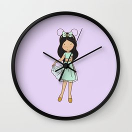 Jazz Fan Girl Wall Clock