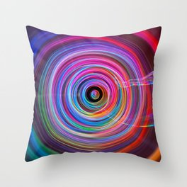 Spin Cycle - Untouched Light Painting Throw Pillow