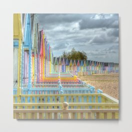 Beach Huts - Waiting for Summer Metal Print