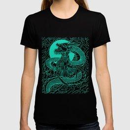 Bushido Knight Samurai Warrior Gift And Dragon Japanese Design T-shirt