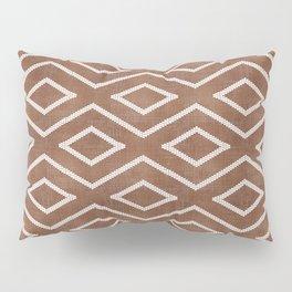 Stitch Diamond Tribal in Sienna Pillow Sham