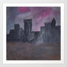 Skyline Sunset Art Print