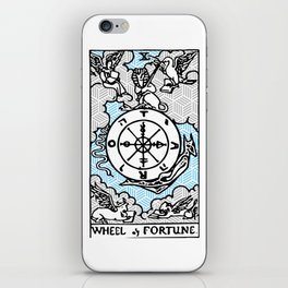 Geometric Tarot Print - Wheel of Fortune iPhone Skin