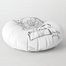 Turntable Patent Floor Pillow