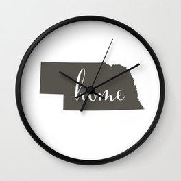 Nebraska is Home Wall Clock
