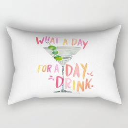 What a Day for a Day Drink – Melon Typography Rectangular Pillow