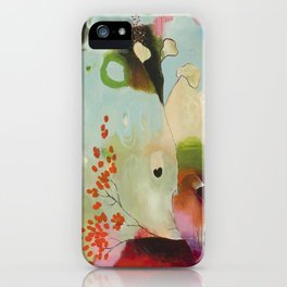 """Deep Embrace"" Original Painting by Flora Bowley iPhone Case"