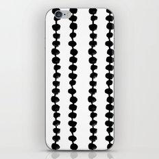 Linocut black and white dots pattern minimalist home decor nursery trendy dotted pattern iPhone & iPod Skin