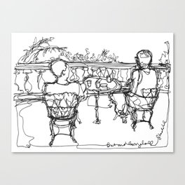 B & G, Happy Anniversary (A Continuous Line Drawing) Canvas Print