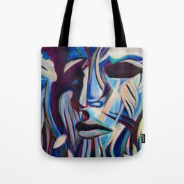 Blue Face Tote Bag