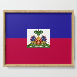 Haiti flag emblem Serving Tray