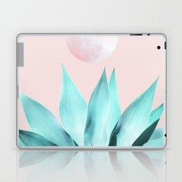 Stellar Agave and Full Moon - pastel aqua and pink Laptop & iPad Skin