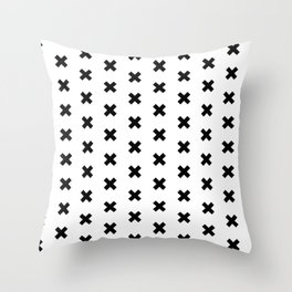 CROSS ((black on white)) Throw Pillow