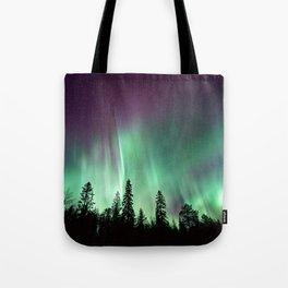 Colorful Northern Lights, Aurora Borealis Tote Bag
