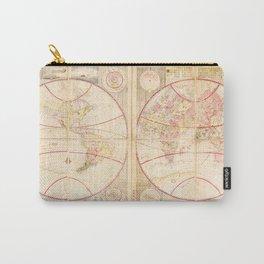 Chikyū Zenzu World Map by Kōkan Shiba (c1790) Carry-All Pouch