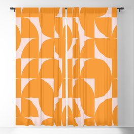 Modernist Shapes in Orange Blackout Curtain