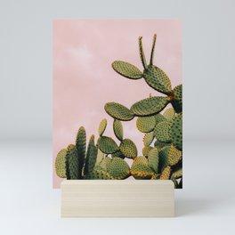 Cactus on Pink Sky Mini Art Print