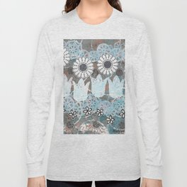 Florals in Neutral Long Sleeve T-shirt