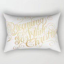 Dreaming of a White Christmas Rectangular Pillow