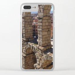 Segovia Aqueduct Clear iPhone Case