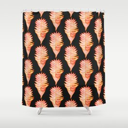 Heliconia black Shower Curtain