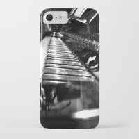 piano iPhone & iPod Cases featuring Piano by Claire Filz