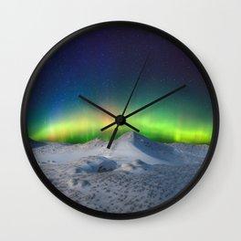 Glen Arbor Michigan Northern Lights Wall Clock