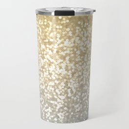 Gold and Silver Glitter Ombre Travel Mug