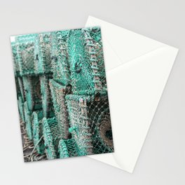 Lobster Traps On The Dock Stationery Cards
