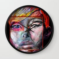 mirror Wall Clocks featuring mirror by Irmak Akcadogan