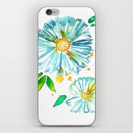 Lakeside Watercolour Blue Daisies iPhone Skin