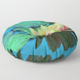 waterlily textures Floor Pillow